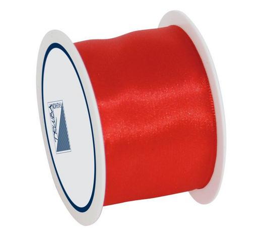 GESCHENKBAND - Rot, Basics, Textil (4/1/7cm)