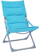 ZLOŽLJIV VRTNI STOL  jeklo modra, srebrna  - modra/srebrna, Design, kovina/tekstil (63/88/83cm) - Ambia Garden