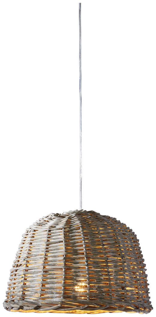HÄNGELEUCHTE - Grau, KONVENTIONELL, Holz (38/27cm)