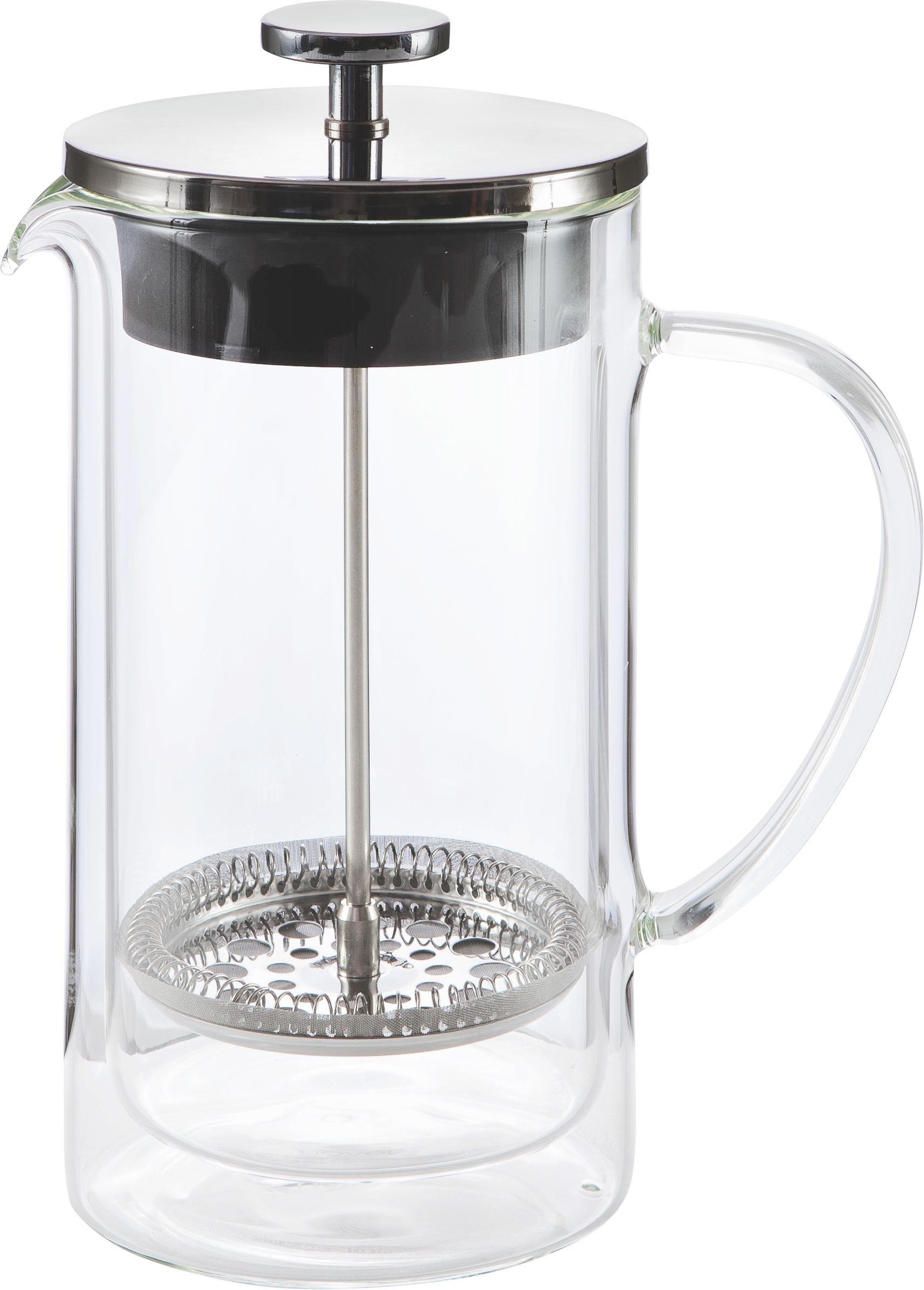 KAFFEEBEREITER - Klar/Silberfarben, Basics, Glas/Kunststoff (10,6/22cm) - NOVEL