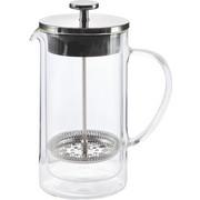 KAFFEEBEREITER - Klar/Silberfarben, KONVENTIONELL, Glas/Kunststoff (10,6/22cm) - NOVEL