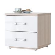 NOČNA OMARICA, bela, jesen  - jesen/siva, Design, leseni material (45/43,5/40cm) - Xora