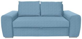 SCHLAFSOFA in Hellblau Textil - Chromfarben/Hellblau, Design, Holz/Textil (199/92/97cm) - Hom`in