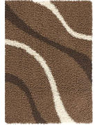 TEPIH VISOKOG FLORA  smeđa     - smeđa, Basics, tekstil (120/170cm) - Boxxx
