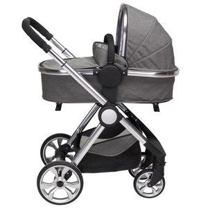 BARNVAGNSSET - silver/grå, Design, metall/textil (76,96/59,95/106,68cm) - My Baby Lou
