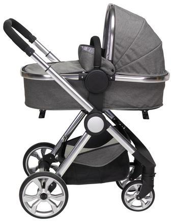 KOČÁREK - SADA - šedá/barvy stříbra, Design, kov/textilie (76,96/59,95/106,68cm) - My Baby Lou