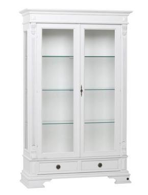 VITRINSKÅP - vit, Lifestyle, metall/glas (118/188/42cm) - Rowico