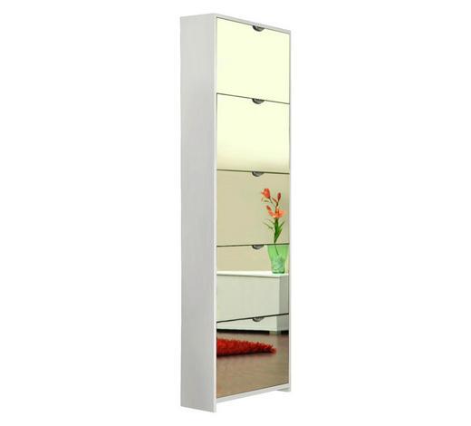 OMARA Z LOPUTAMI ZA ČEVLJE bela - bela, Design, steklo/leseni material (58/177/17cm) - Xora