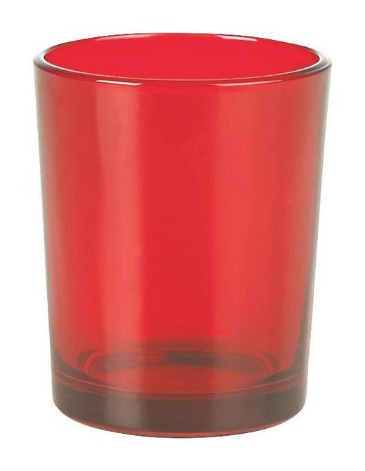 TEELICHTGLAS - Rot, Basics, Glas (5.5/6.5cm)