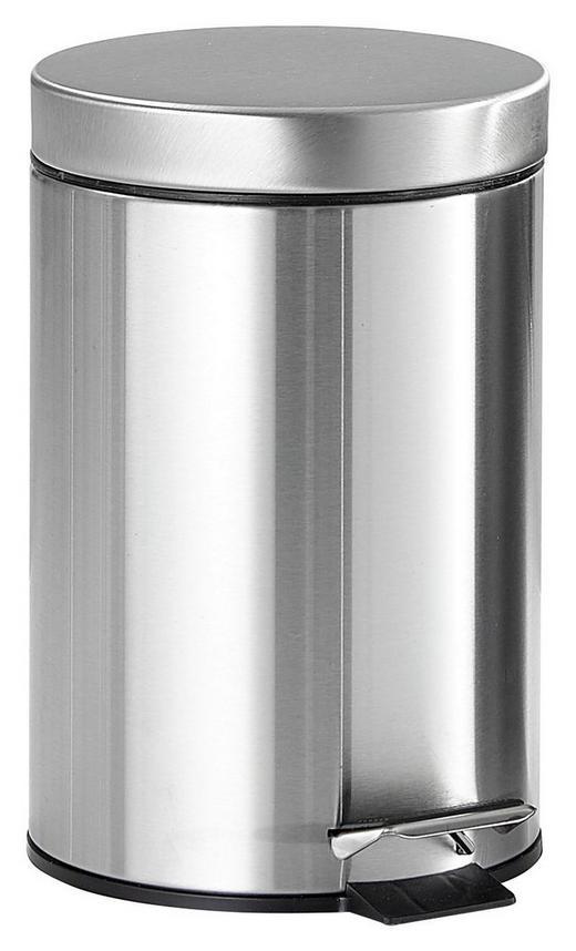 KOSMETIKEIMER 3 L - Edelstahlfarben/Schwarz, Basics, Kunststoff/Metall (17/25.5cm)