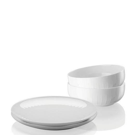 Porzellan  FRÜHSTÜCKSSERVICE - Weiß, Basics, Keramik