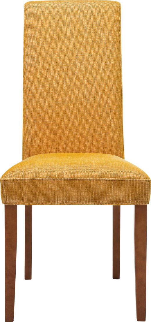 STUHL Webstoff Buche massiv Buchefarben, Gelb - Gelb/Buchefarben, Design, Holz/Textil (48/100/47cm) - Kare-Design