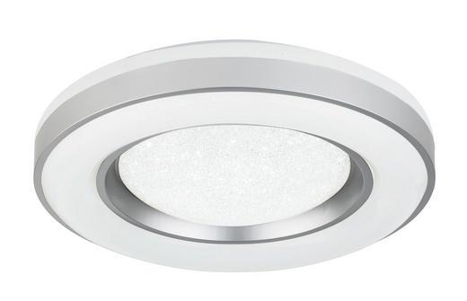 LED-DECKENLEUCHTE - Silberfarben/Opal, KONVENTIONELL, Kunststoff/Metall (50/11cm)