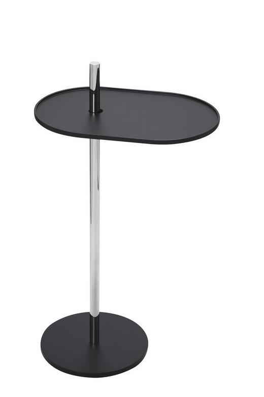 BEISTELLTISCH oval Schwarz - Schwarz, Design, Metall (39/70/25cm) - Carryhome
