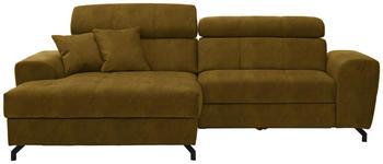 WOHNLANDSCHAFT in Textil Gelb  - Gelb/Schwarz, MODERN, Textil/Metall (181/267cm) - Carryhome