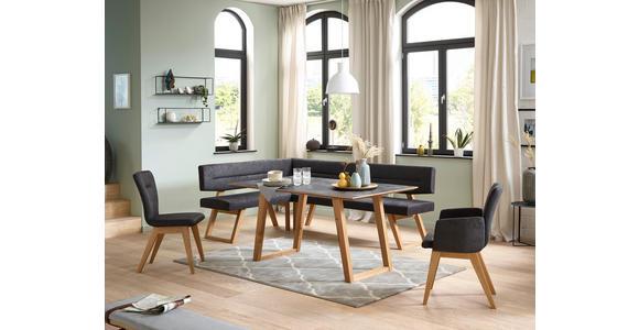 ESSTISCH in Holz, Kunststoff 200/100/76 cm  - Eichefarben/Grau, KONVENTIONELL, Holz/Kunststoff (200/100/76cm) - Dieter Knoll