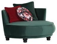 DESIGNSESSEL in Textil Rot, Dunkelgrün  - Dunkelgrün/Rot, Design, Holz/Textil (138/80/140cm) - Carryhome