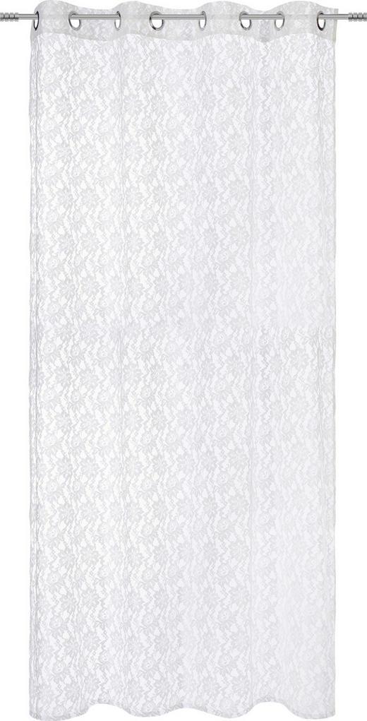 ÖSENSCHAL  halbtransparent  140/245 cm - Weiß, KONVENTIONELL, Textil (140/245cm) - Esposa