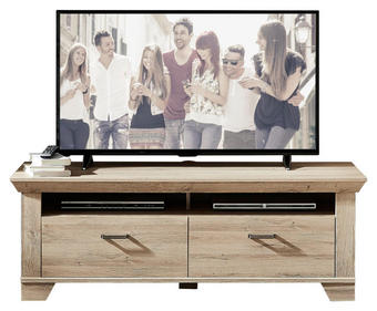 TV-ELEMENT Eichefarben - Eichefarben, Design, Metall (148/54/51cm) - Landscape