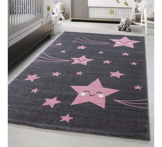 KINDERTEPPICH 160/230 cm - Pink/Grau, Trend, Textil (160/230cm) - Ben'n'jen