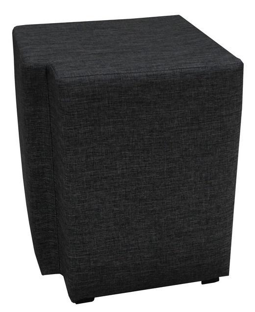 NACHTKÄSTCHENSET Flachgewebe Schwarz - Schwarz, Design, Kunststoff/Textil (40/50/40cm) - Carryhome