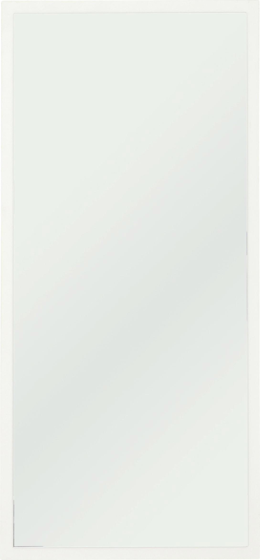 SPIEGEL - Weiß, Design, Glas/Holzwerkstoff (47/115/4cm) - CARRYHOME