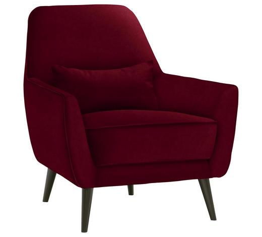 SESSEL in Textil Rot - Rot/Schwarz, MODERN, Holz/Textil (77/86/80cm) - Carryhome