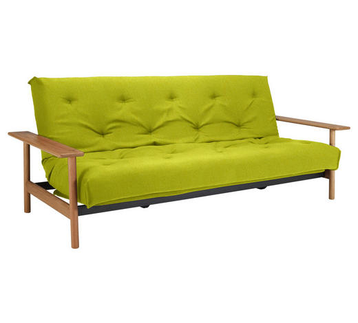 SCHLAFSOFA in Holz, Textil Gelb  - Gelb, Design, Holz/Textil (230/92/97cm) - Innovation