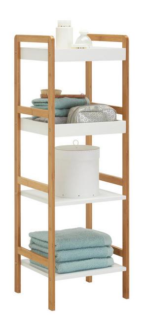 BADRUMSHYLLA - vit/naturfärgad, Klassisk, trä/träbaserade material (36/110/33cm) - Xora