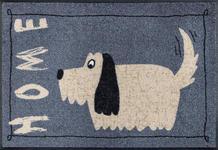 FUßMATTE 50/75 cm Hund Grau, Beige  - Beige/Grau, Basics, Kunststoff/Textil (50/75cm) - Esposa