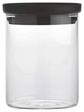 FÖRVARINGSBURK - klar/svart, Basics, glas/plast (9,5/11,7cm) - Homeware