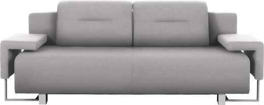 SCHLAFSOFA in Textil Chromfarben, Hellgrau - Chromfarben/Hellgrau, Design, Kunststoff/Textil (222/84/93cm) - Carryhome
