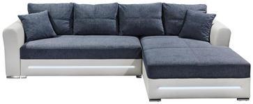 WOHNLANDSCHAFT in Textil, Holzwerkstoff Anthrazit, Weiß  - Anthrazit/Silberfarben, Design, Holzwerkstoff/Kunststoff (285/190cm) - Carryhome