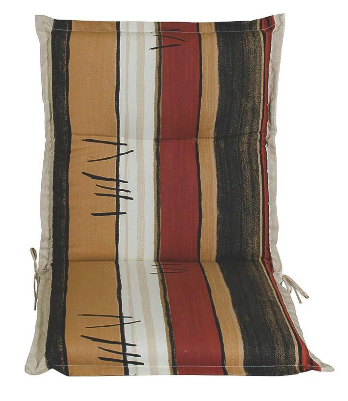 SESSELAUFLAGE Streifen - Anthrazit/Beige, KONVENTIONELL, Textil (50/9/100cm)