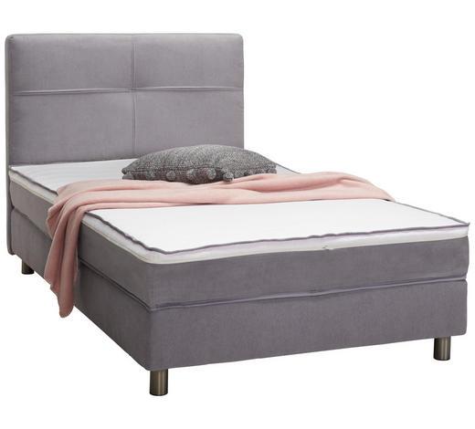 POSTEL BOXSPRING, tkaná látka, 120/200 cm, topper - šedá/světle šedá, Konvenční, textil (120/200cm) - Stylife