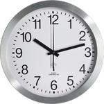 WANDUHR 25 cm - Silberfarben/Weiß, Basics, Glas/Kunststoff (25cm) - Boxxx