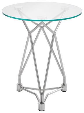 AVLASTNINGSBORD - nickelfärgad, Design, metall/glas (45,7/54,6cm) - Xora