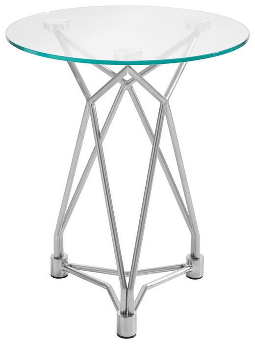 BEISTELLTISCH in Nickelfarben - Nickelfarben, Design, Glas/Metall (45,7/54,6cm) - Xora