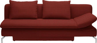 SCHLAFSOFA Orange, Rot - Rot/Alufarben, Design, Textil/Metall (213/90/94cm) - DIETER KNOLL