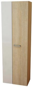ŠATNÍ SKŘÍŇ - bílá/barvy stříbra, Konvenční, dřevěný materiál (60/185/36,6cm) - Boxxx