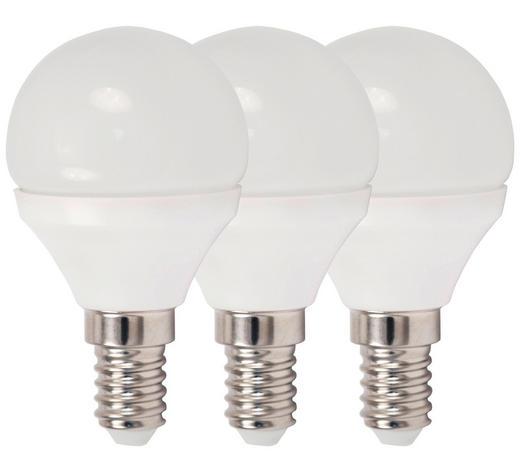 LED-Leuchtmittel E14 - Weiß, Basics, Kunststoff/Metall (4,5/7,9cm) - Boxxx