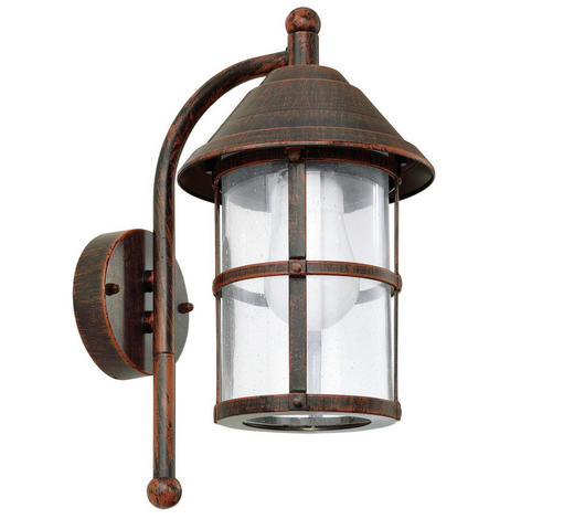 AUßENLEUCHTE - Braun, KONVENTIONELL, Glas/Metall (18/35/24cm)