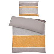 BETTWÄSCHE 140/220 cm - Orange/Grau, KONVENTIONELL, Textil (140/220cm) - Novel