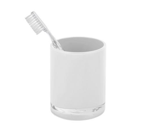 MUNDSPÜLBECHER Kunststoff - Weiß, Basics, Kunststoff (7,6/9,5cm) - Sadena