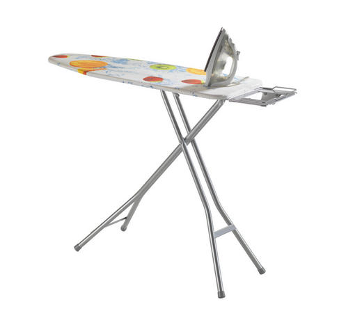 Bügelbrett - Multicolor/Weiß, Basics, Metall (40/120cm) - Homeware
