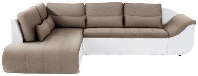 Wohnlandschaft in L-Form Carisma 210x300 cm - Beige/Schwarz, MODERN, Textil (210/300cm) - Ombra