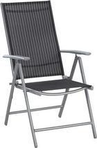 GARTENKLAPPSESSEL - Silberfarben/Schwarz, Design, Textil/Metall (56/106/64cm) - XORA