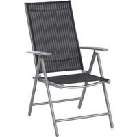 ZAHRADNÍ SKLÁPĚCÍ ŽIDLE - bílá/černá, Design, kov/textilie (56/106/64cm) - Xora