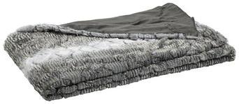 FELLDECKE 150/200 cm Anthrazit - Anthrazit, KONVENTIONELL, Textil (150/200cm) - Novel