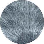 KUNSTFELL   Grau, Silberfarben - Silberfarben/Grau, Trend, Textil (100cm) - Novel